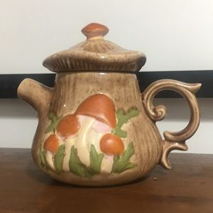 Vintage mushroom Retro 70's tea pot ceramic ARNELS